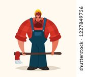 funny cartoon character. strong ... | Shutterstock .eps vector #1227849736