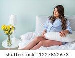 beautiful pregnant woman... | Shutterstock . vector #1227852673