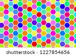 honeycomb many color ... | Shutterstock . vector #1227854656