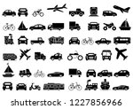 solid icons set  transportation ... | Shutterstock .eps vector #1227856966