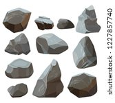 stones cartoon. rock mountains... | Shutterstock .eps vector #1227857740