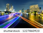 light of boat running in river... | Shutterstock . vector #1227860923