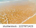 soft ocean waves on beach | Shutterstock . vector #1227871423
