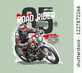 slogan with vintage motorcycle... | Shutterstock .eps vector #1227872266