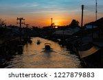 amphawa floating market at... | Shutterstock . vector #1227879883