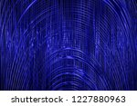 illustration glowing blue... | Shutterstock . vector #1227880963