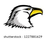 bald eagle sign on a white... | Shutterstock .eps vector #1227881629