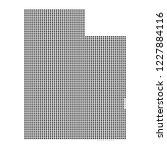 pixel mosaic map of utah on...
