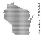 pixel mosaic map of wisconsin...