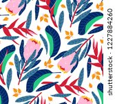 beautiful pattern with... | Shutterstock .eps vector #1227884260