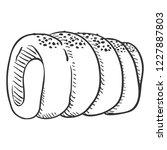 vector sketch traditional czech ... | Shutterstock .eps vector #1227887803
