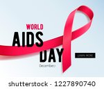 world aids day background. hiv... | Shutterstock .eps vector #1227890740