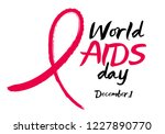 world aids day background. hiv... | Shutterstock .eps vector #1227890770