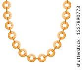 chunky chain golden metallic... | Shutterstock .eps vector #1227890773