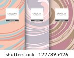 chocolate bar packaging set.... | Shutterstock .eps vector #1227895426