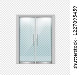 double sliding glass doors with ... | Shutterstock .eps vector #1227895459