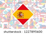 flag background of european... | Shutterstock .eps vector #1227895600