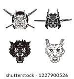 samurai warrior with katana... | Shutterstock .eps vector #1227900526