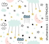cute seamless unicorn pattern... | Shutterstock .eps vector #1227904249