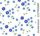 seamless vector floral pattern... | Shutterstock .eps vector #1227905089