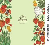 background with super food ... | Shutterstock .eps vector #1227908329