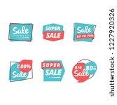 sale badges sticker label...   Shutterstock .eps vector #1227920326