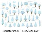 set of cartoon park and forest...   Shutterstock .eps vector #1227921169
