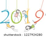 people on the 2019 figures for... | Shutterstock .eps vector #1227924280