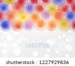 bright circles on white... | Shutterstock .eps vector #1227929836