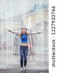 beautiful woman posing in the... | Shutterstock . vector #1227933766