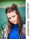 beautiful woman posing in the... | Shutterstock . vector #1227933769