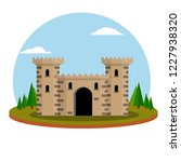 medieval knight's castle with... | Shutterstock .eps vector #1227938320