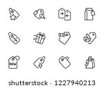 price tag icon. set of line... | Shutterstock .eps vector #1227940213