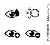 eye treatment. simple related... | Shutterstock .eps vector #1227941740