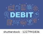 debit word concepts banner.... | Shutterstock .eps vector #1227941836
