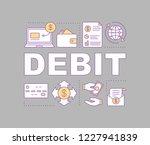 debit word concepts banner....