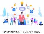 online assistant  virtual help...   Shutterstock .eps vector #1227944509