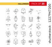 halloween black line icon   25... | Shutterstock .eps vector #1227947200