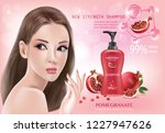 beautiful woman ads with...   Shutterstock .eps vector #1227947626