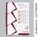 flyer template. design for a... | Shutterstock .eps vector #1227948469