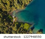 baduk lakes from the height of... | Shutterstock . vector #1227948550