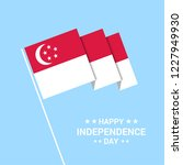 singapore independence day... | Shutterstock .eps vector #1227949930