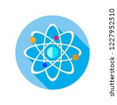 atom icon. science sign. atom...   Shutterstock .eps vector #1227952510