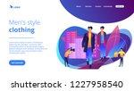 catwalk male models display... | Shutterstock .eps vector #1227958540