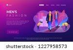 catwalk male models display... | Shutterstock .eps vector #1227958573