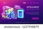 programmers testing chatbot... | Shutterstock .eps vector #1227958879