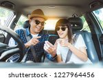 front view asian couple... | Shutterstock . vector #1227964456