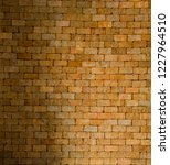 red brick wall is durable... | Shutterstock . vector #1227964510