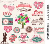 valentine's day design  labels  ...