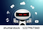 isometric science robot concept....   Shutterstock .eps vector #1227967360
